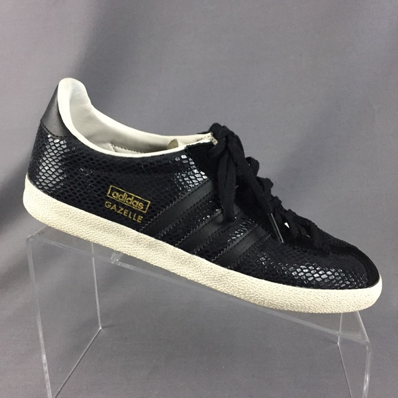 Adidas Originals Gazelle OG Women 7 Black Snake